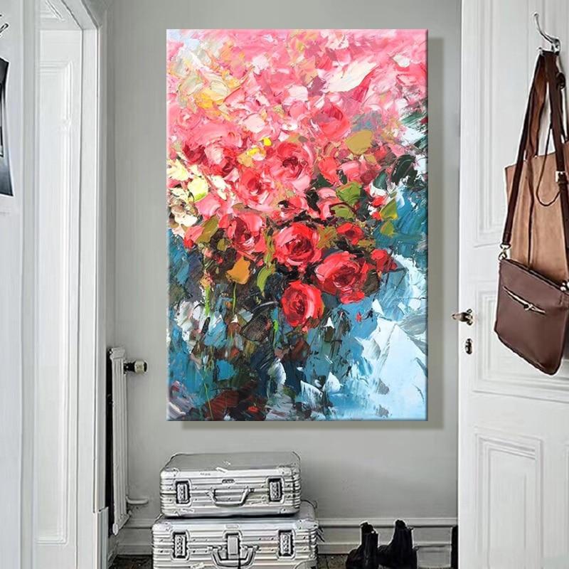 Paint by Number Art Painting One Piece Flower Europe Propylene Fabric Cloth 30x45cm 40x60cm 50x75cm 60x90cm 70x100cm