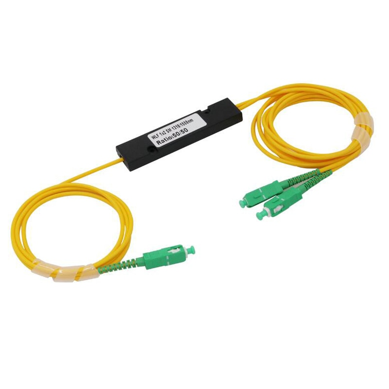 5 قطعة/الوحدة 1X2 PLC أحادي الألياف البصرية الخائن FTTH PLC FBT مقرنة البصرية ، SC/APC 1x2 PLC الألياف البصرية الخائن