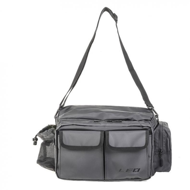 Multifunctional Waterproof Fabric Fishing Bag 11L Large Waist Shoulder Messenger Fishing Tackle Reel Lure Camera Storage Bag Hot enlarge