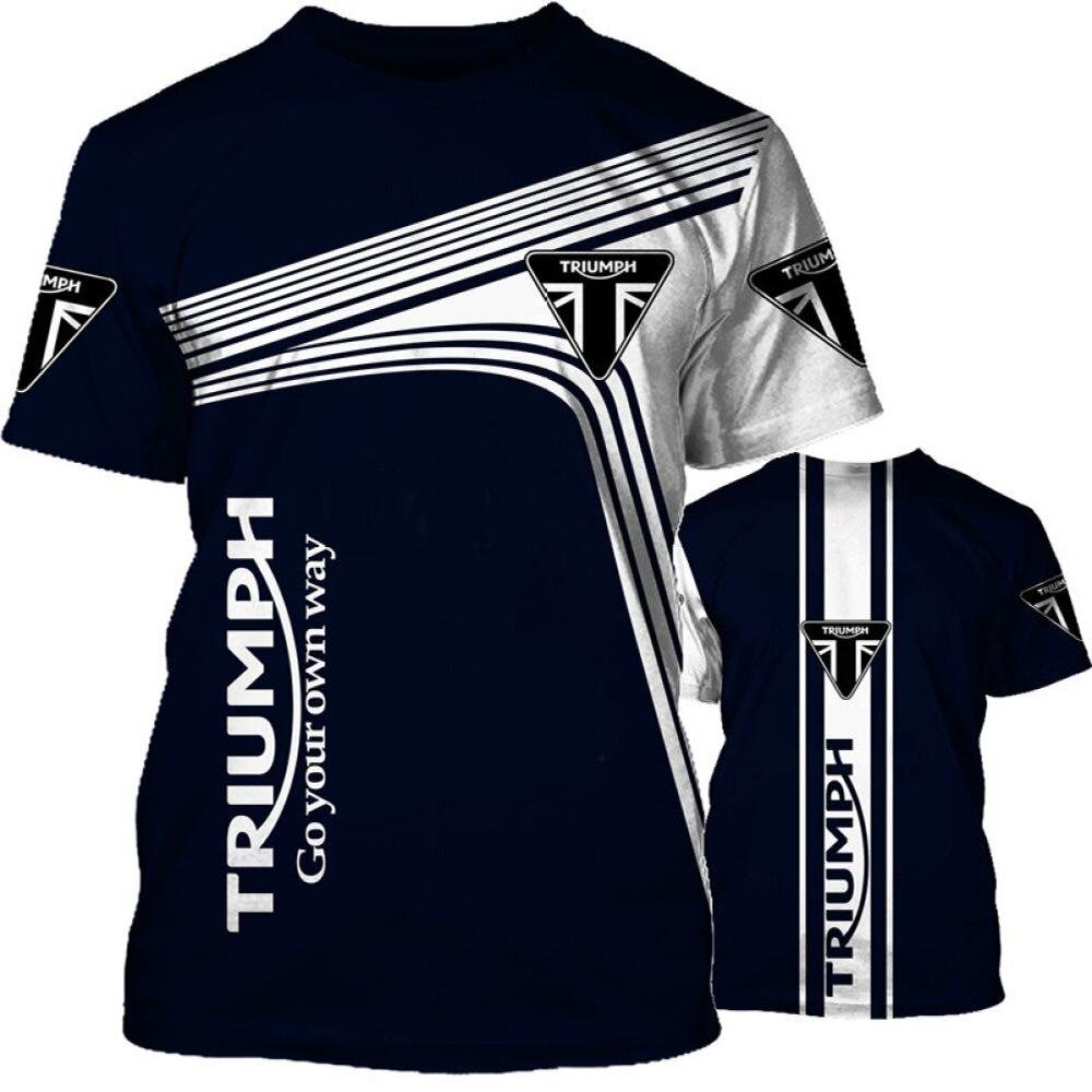 aliexpress.com - Triumph T-Shirt Motorcycle Men's Short Sleeve New Sports Racing Suit 3D Letter Print Round Neck Hip Hop Party T-Shirt Large 2021