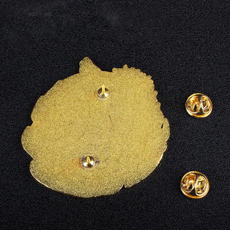 Deluxe Genshin Impact Pin Xiao Venti Ganyu Keqing Cosplay Badges Anime Metal Brooches Charm Pins