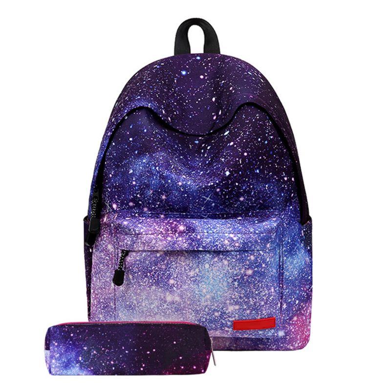 2pcs Boys Girls School Backpack Travel Rucksack Pencil Bag