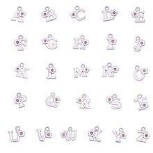 Skyrim 10 pièces/lot 26 lettre pendentif Alphabet bijoux pour femmes nom breloque A B C D E F G H I J K L M N O P Q R S T U V W X Y Z