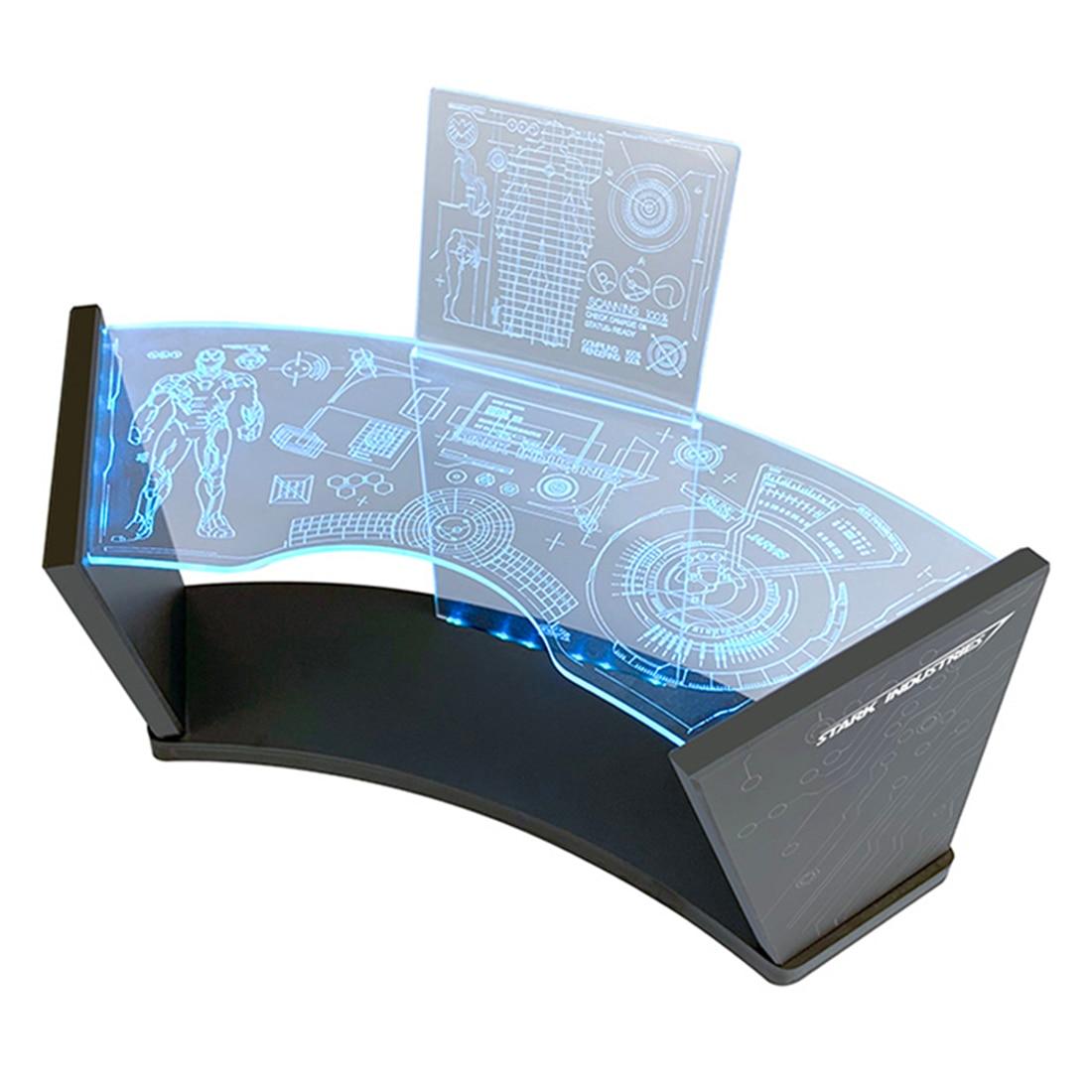 Debugging Scenarios Workbench Workshop Scene Test Desk with Blue LED for 1/6 Hottoys Series Model Iron Man Tony Stark (DC Plug)