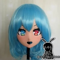 rabbit 104 resin cross dressing pretty lolita girl head bid doll mask japanese anime dong fang project kigurumi mask cosplay