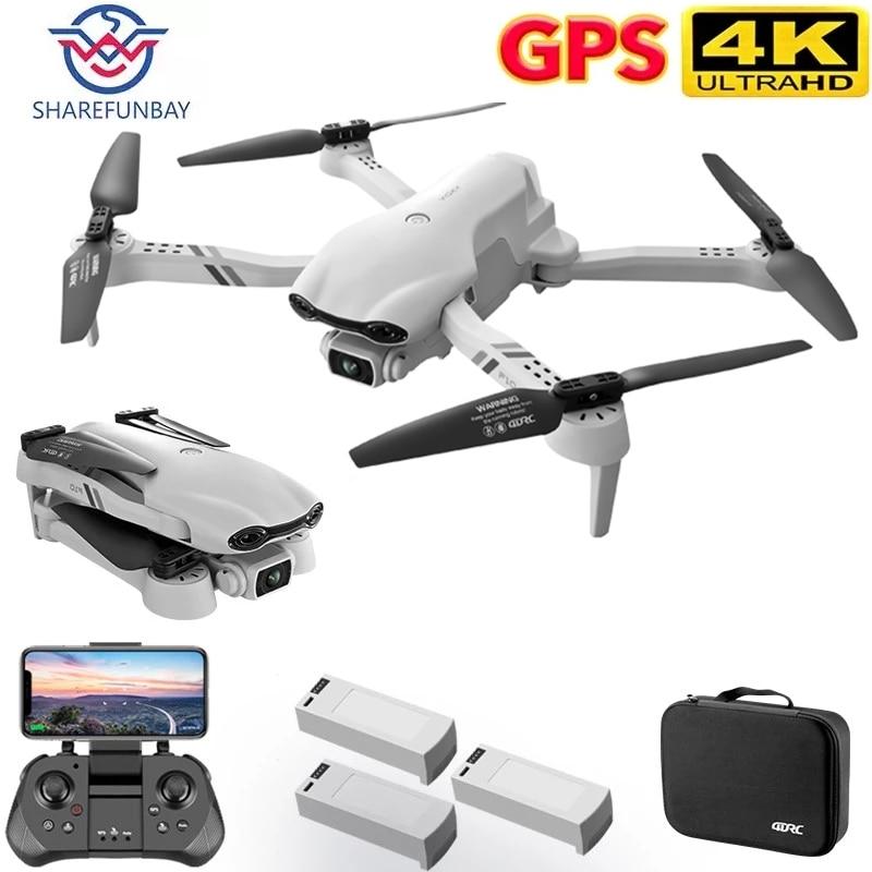 SHAREFUNBAY F10 Drone 4K 5G WiFi Live Video FPV Quadrotor Flight 25 Minutes Rc Distance 2000m GPS Drone HD Wide-Angle Dual Camer