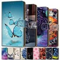 case for samsung s20 fe s10 s20 plus s10e g970f cute leather case for samsung galaxy note 8 9 3 case book wallet cover anime bag