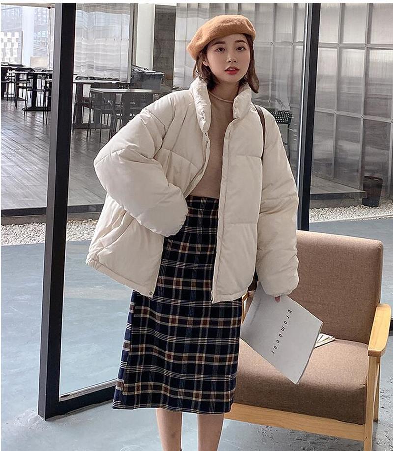 Модное свободное зимнее пальто из хлопка, пуховик, одежда с хлопковой подкладкой, женская короткая стильная куртка с хлопковой подкладкой, ...