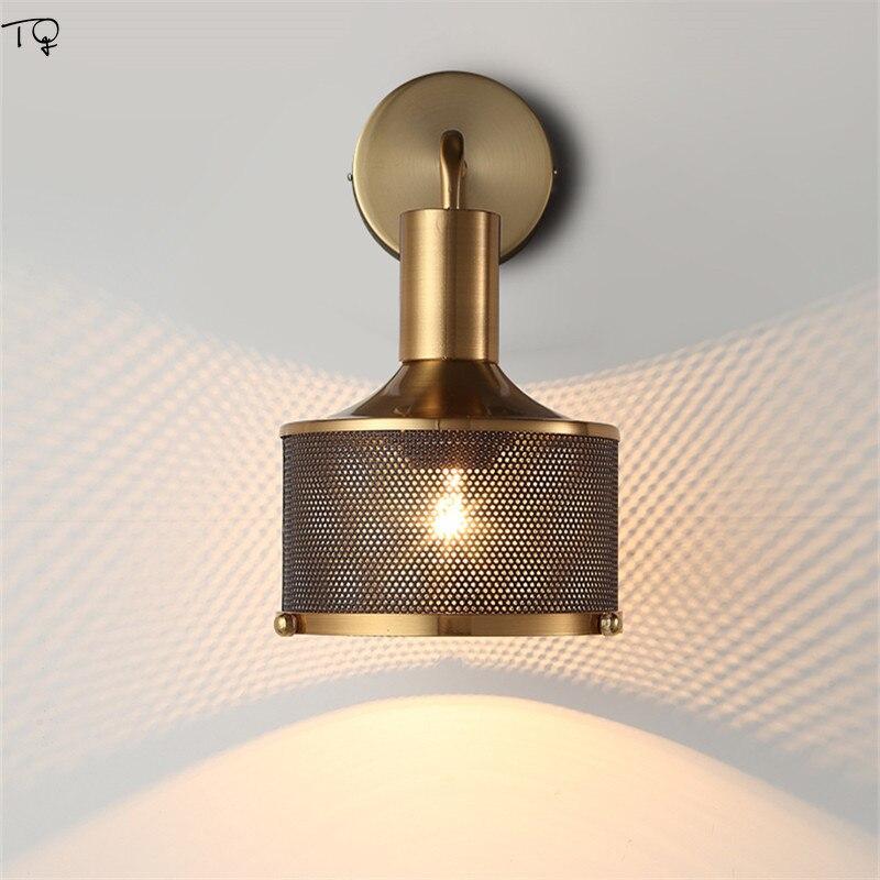 الحديثة بسيطة فاخرة الجدار مصباح الذهب بريق الحديد صافي المعادن الجدار الشمعدان تركيب المصابيح ديكور غرفة نوم السرير غرفة المعيشة خلفية