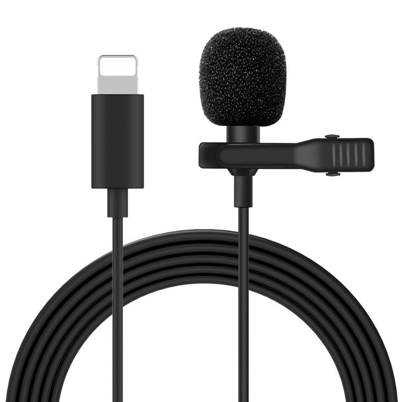 Nohon Mini Microphone for iPhone for Lightning Type C 3.5mm Microfone for Huawei Xiaomi Lavalier Clip-on Recording Microfono