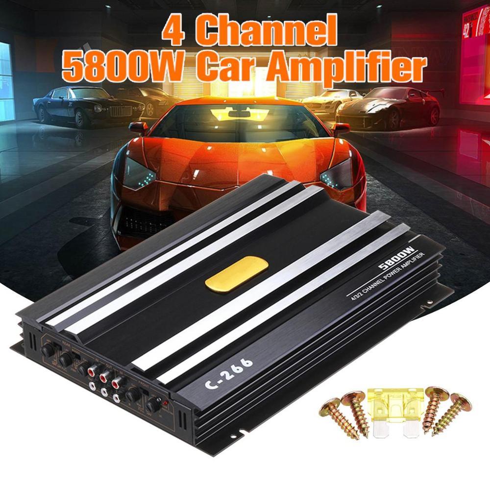 5800 Watt Car Audio Power Amplifier 4 Channel 12V Car Amplifer Car Audio Amplifier for Cars Amplifier Subwoofer