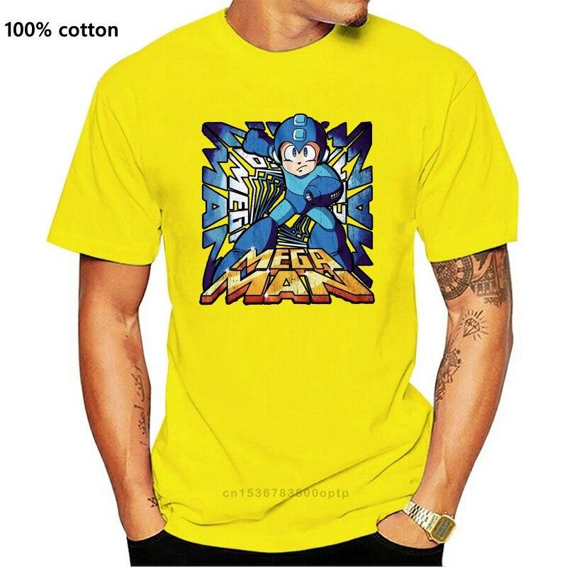 Megaman-Camiseta de manga corta con estampado para hombre, ropa de marca de...
