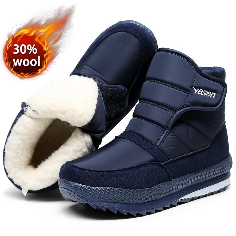 Мужские зимние ботинки, зимняя обувь с мехом 2021, теплые уличные повседневные мужские хлопковые рабочие повседневные кроссовки, короткие ботинки, устойчивые к холоду 47