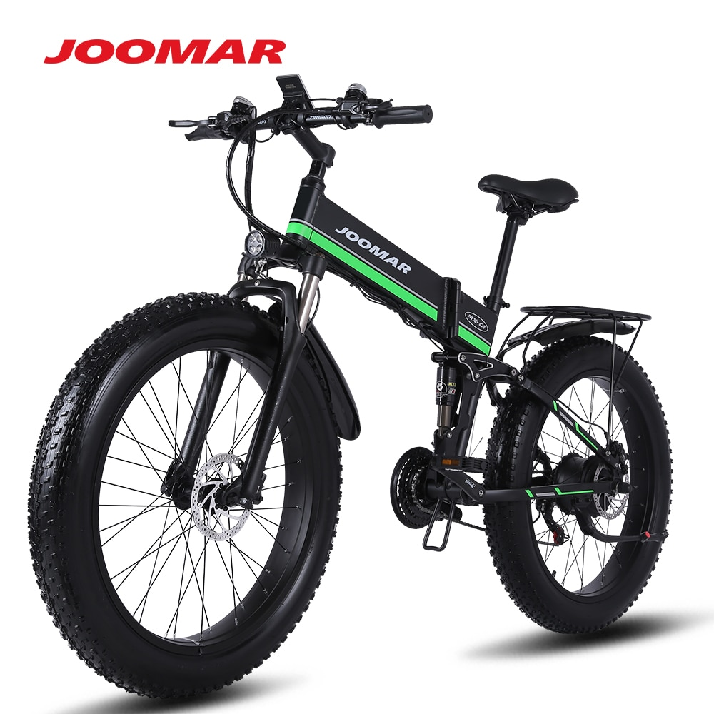 JOOMAR 1000W Electric Bike TOP Level Folding Ebike Snow Bicycle Mountain Bike Beach 4.0 Fat Tire 48V Electric Bicycle MX01 Plus