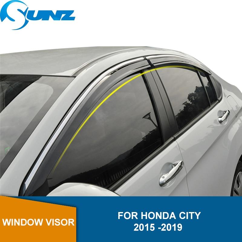 Side Window Deflectors For Honda City 2015 2016 2017 2018 2019 2020  Side Window Visors Weathershields Wind Rain Guard SUNZ