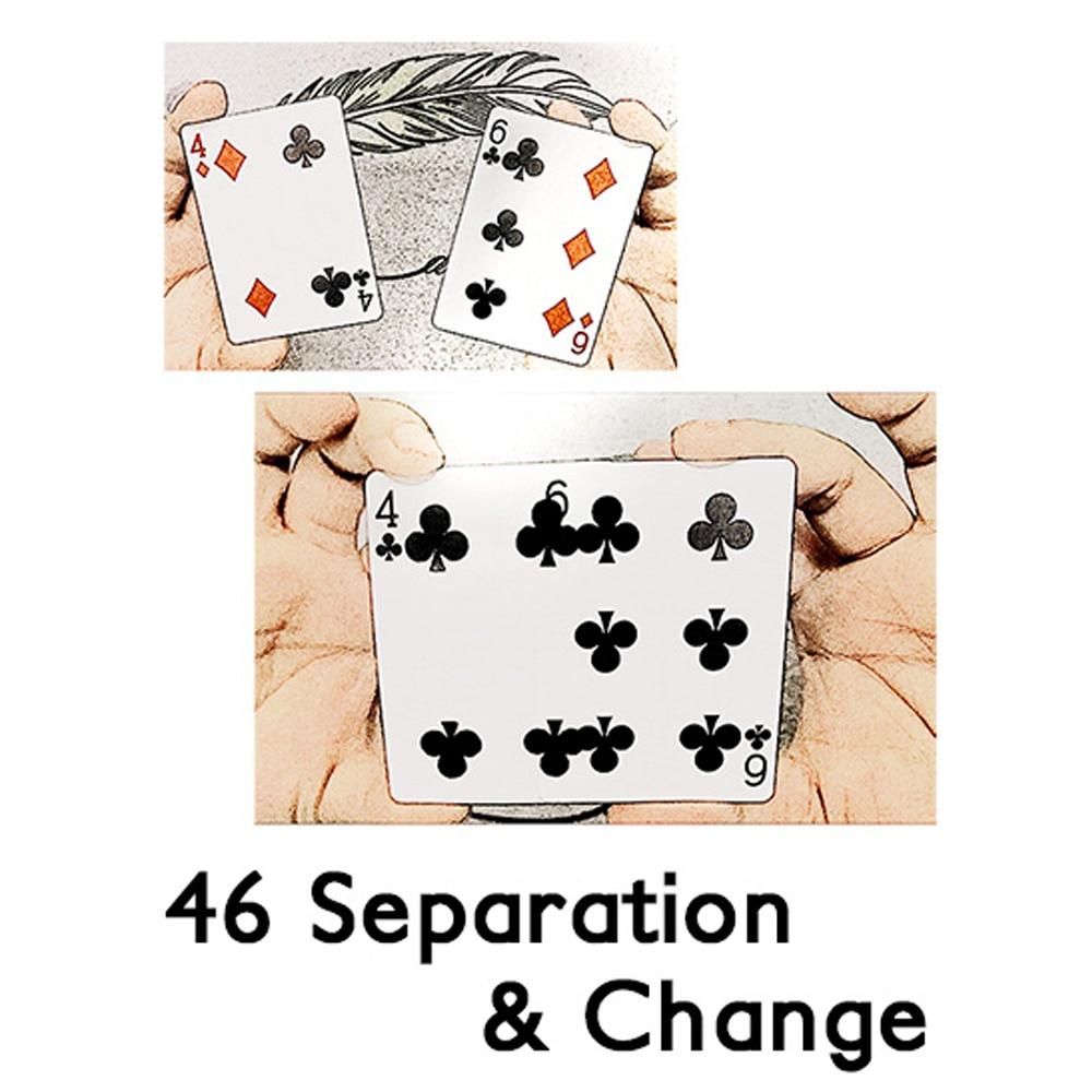 46 разъединения и изменить фокусы этап Крупным планом магия визуальный карты Magie ментализм иллюзия, трюк, реквизит trucos де магия