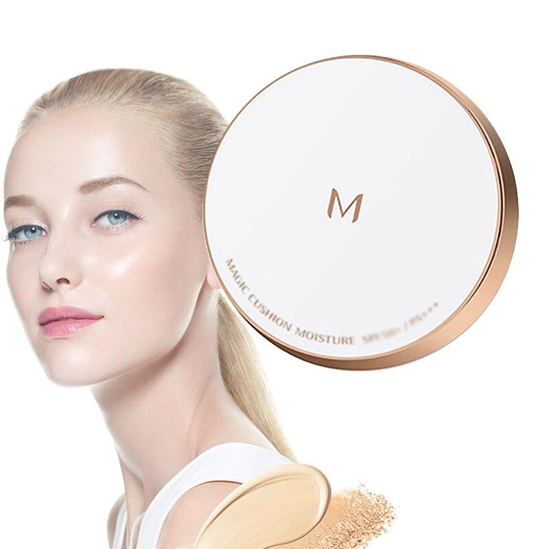 Missha m magia almofada umidade 21 luz bege/23 natural bege almofada clareamento perfeito almofada de ar bb creme fundação coreia