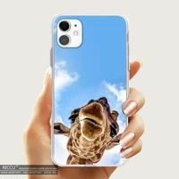 giraffes cute animal phone case transparent for iphone 12 11 pro mini xs max 8 7 6 6s plus x se 2020 xr iphone covers