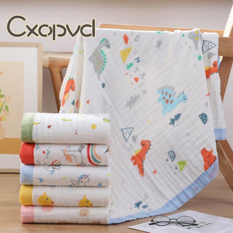 полотенца bebitof baby детское банное полотенце с уголком 75х75 Детское банное полотенце из муслина, мягкое Хлопковое одеяло для приема, деликатная кожа, 6 слоев толстого хлопка, детское банное полотенце