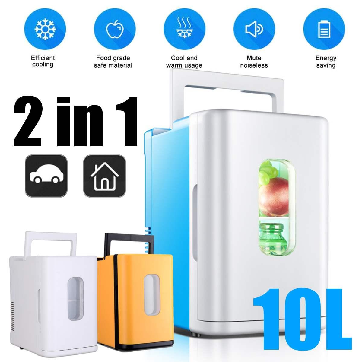 10L Mini Refrigerator Small 12V Car Refrigerator 220V Single Door Car Home Dual-Use Thermoelectric Mini Fridge Cooler Warmer