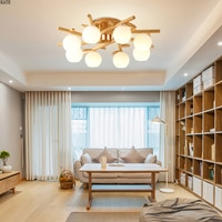 Nordic Simple Moder oak LED Ceiling Lights Japanese Style Solid Wood Ceiling Lamp For Living Room Bedroom Restaurant Lighting