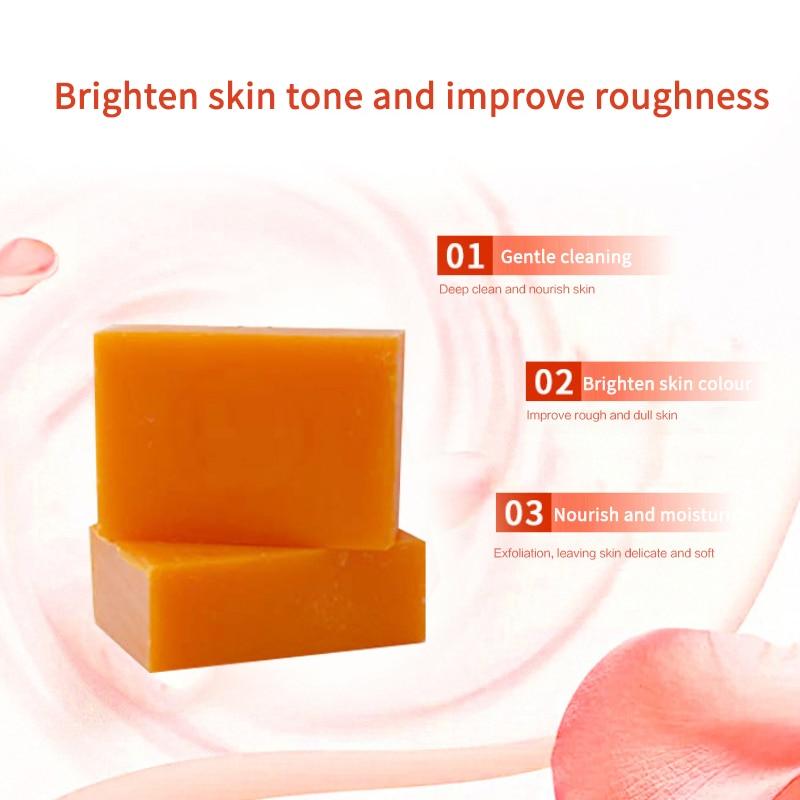 100g Dark Black Skin Lightening Soap Kojic Acid Whitening Soap Kojic Acid Glycerin Brighten Face Body Skin Bleaching Soap TSLM2