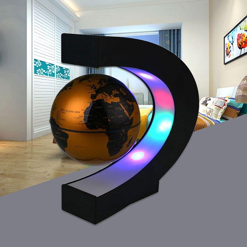 Lámpara globo levitación magnética mapa del mundo dormitorio decoración DIY sala de estar LED globo luz novedad C Forma estudio hogar