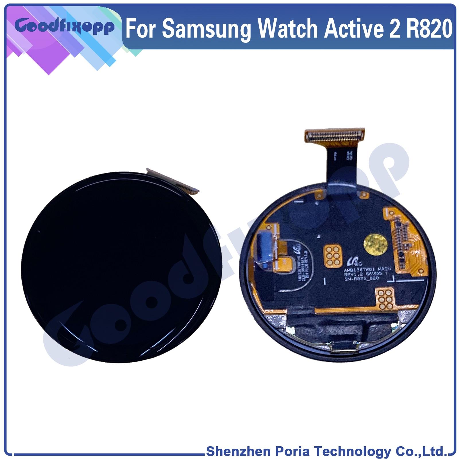 الأصلي مشاهدة عرض ل سامسونج ساعة Actire 2 R820 44 مللي متر LCD عرض الجمعية شاشة تعمل باللمس