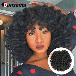 DANSAMA 8 дюймов ямайский отскок Омбре плетение волос Jumpy палочка завиток крючком косички синтетические волосы кроше для наращивания для женщи...