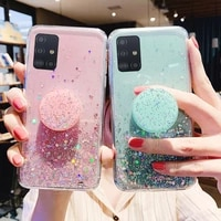 sparkling phone case for samsung galaxy a51 a71 case a50 a70 s21 s20 plus fe ultra s10 a21s s9 a52 a12 a10 a11 a20 a41 a31 cover
