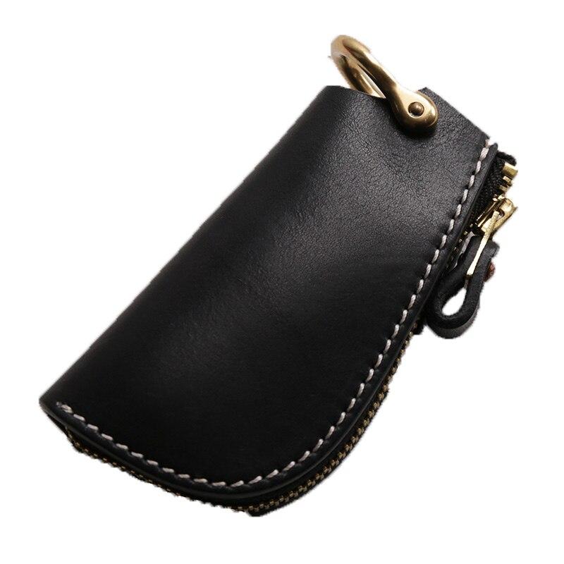 محفظة جلدية للجنسين بسيطة ، حامل مفاتيح ، منظم ، محفظة سيارة ، حامل بطاقات مربية