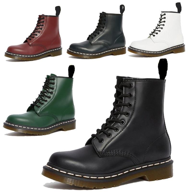 Femmes chaussures bottes Martin bottes en cuir laine chaud hiver automne grande taille Designers moto bottine Couple unisexe Mujer