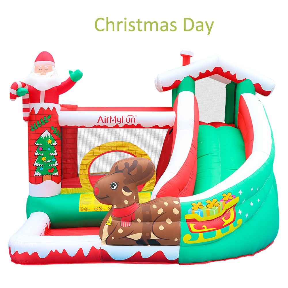 Christmas Day Inflatable Jumping bouncer Castle Slide Family Used Bouncy House for Kids Indoor Trampoline yard bouncy castle inflatable jumping castles 3 5 3 2 7m trampoline for children house inflatable bouncer with slide blower