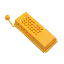 50 Uds avispa con oreja Abeja Reina jaula de correo amarillo ABS 79*14*28mm herramientas de cultivo de abejas apicultura Push-pull Beekeeper