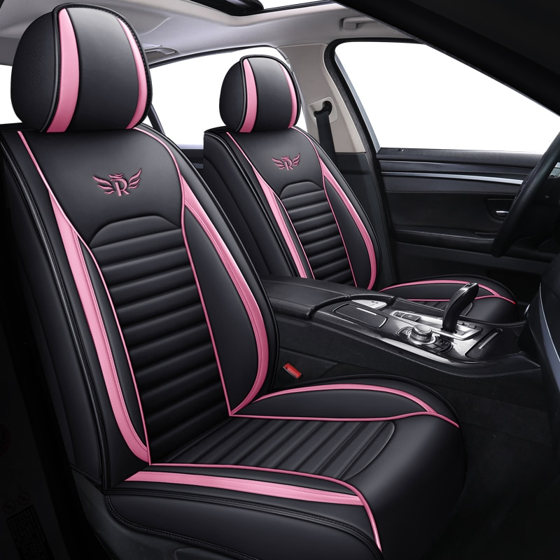 leather black red car seat cover For peugeot 301 307 sw 508 sw 308 206 4007 2008 5008 2010 3008 2012 107 206 accessories enlarge