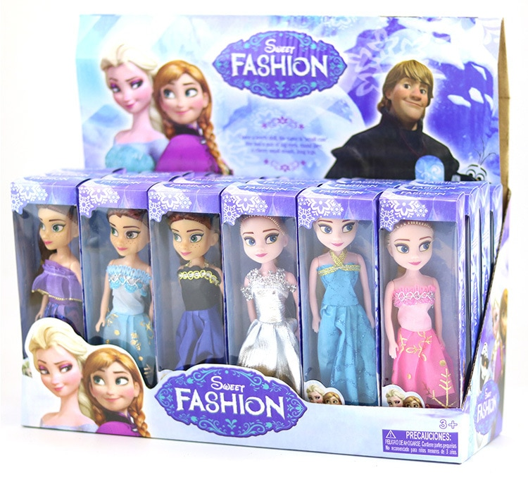 Disney Frozen 1pcs Random 16CM Princess doll Snow Queen Elsa Doll Princess Anna Elsa Doll Fairy Toys Kids Girls Birthday Gifts