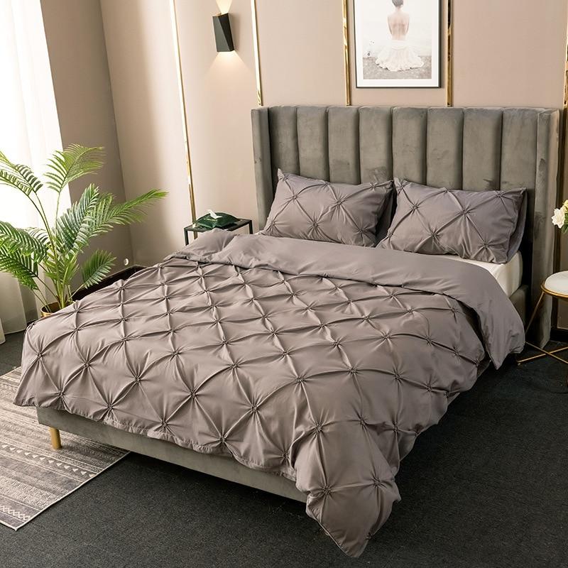 Comforter Bedding Sets Double Duvet Cover Set King Size Luxury Silk Comforter Cover