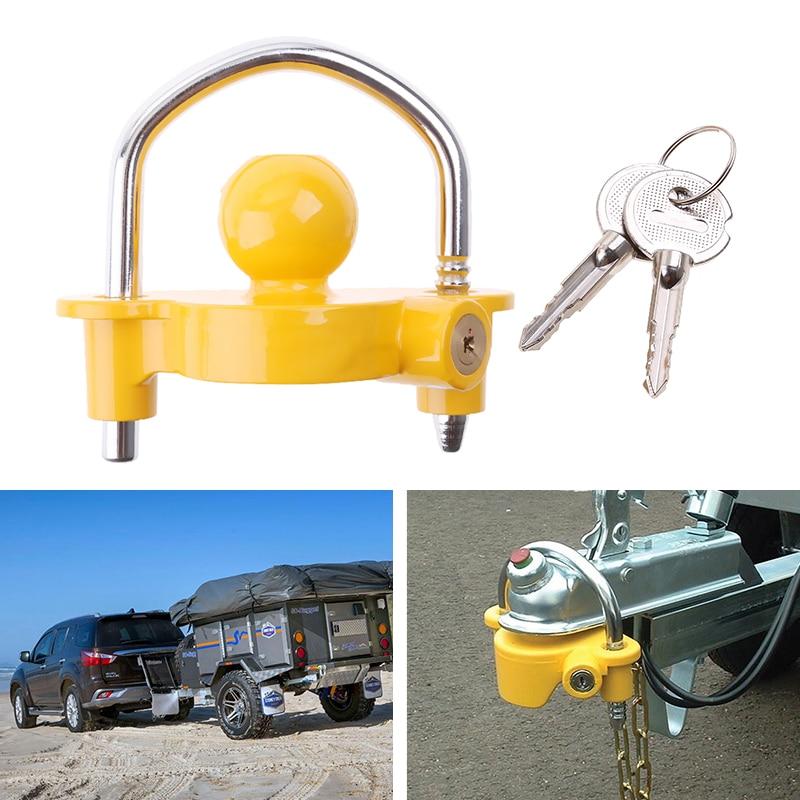 Acoplador Universal de bola para remolque, cerradura para remolque de servicio pesado, bloqueo antirrobo para remolque de barco, caravana, camión, yate, accesorios para remolque
