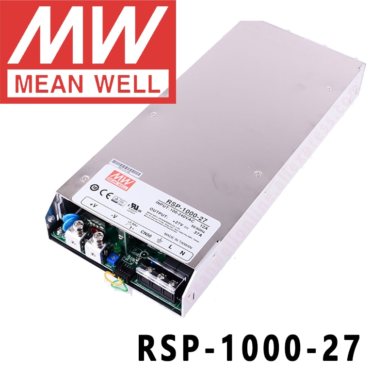 الأصلي يعني جيدا RSP-1000-27 ميانويل 27 فولت/0-37A/999 واط إخراج واحد مع وظيفة معامل تصحيح الطاقة 1U الانظار امدادات الطاقة