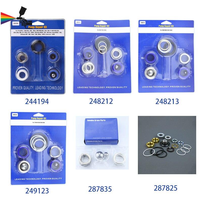 Airless Sprayers Pump Repair Kit 244194/248212/248213/249123/287835/287825 For Graco Sprayer 390 395 695 795 1095 5900 7900 833 недорого