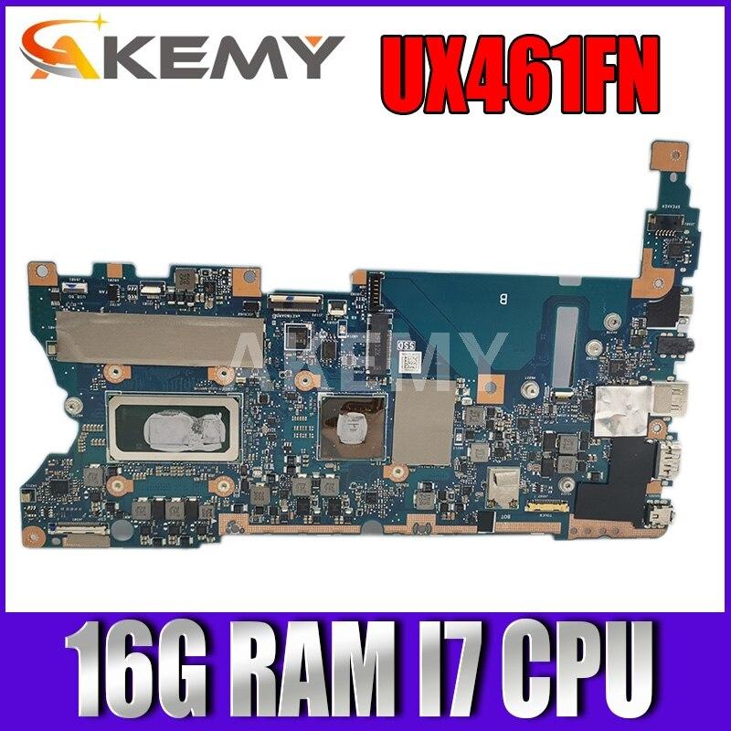 UX461FN اللوحة ل ASUS UX461FN UX461F محمول mainboard اللوحة اختبارها W/ 16G/I7-8565U (V2G) GPU