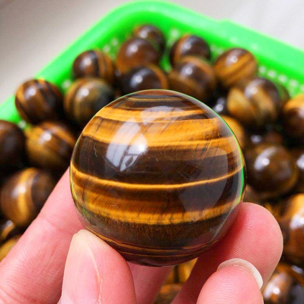 Piedra de ojo de tigre para curación, piedra de cristal, esfera de...