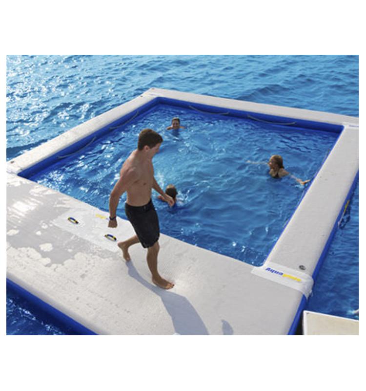 يخت حمام سباحة قابل للنفخ ، مسبح بحري عائم مع شبكة