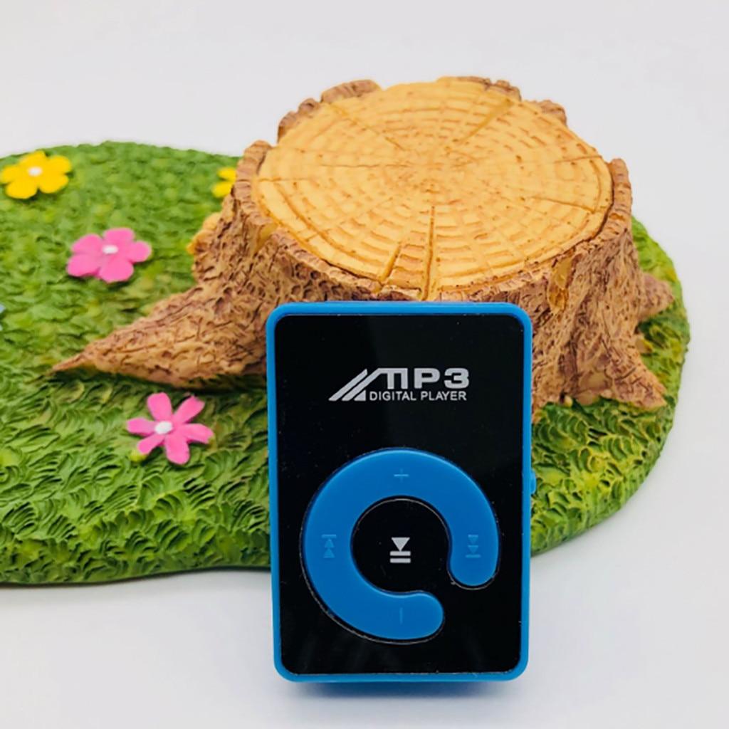 Más Vendidos producto en 2020 espejo Clip Digital USB Mp3 reproductor de música apoyo 1-8GB TF tarjeta SD aceptar al por mayor dropshipping. Exclusivo.