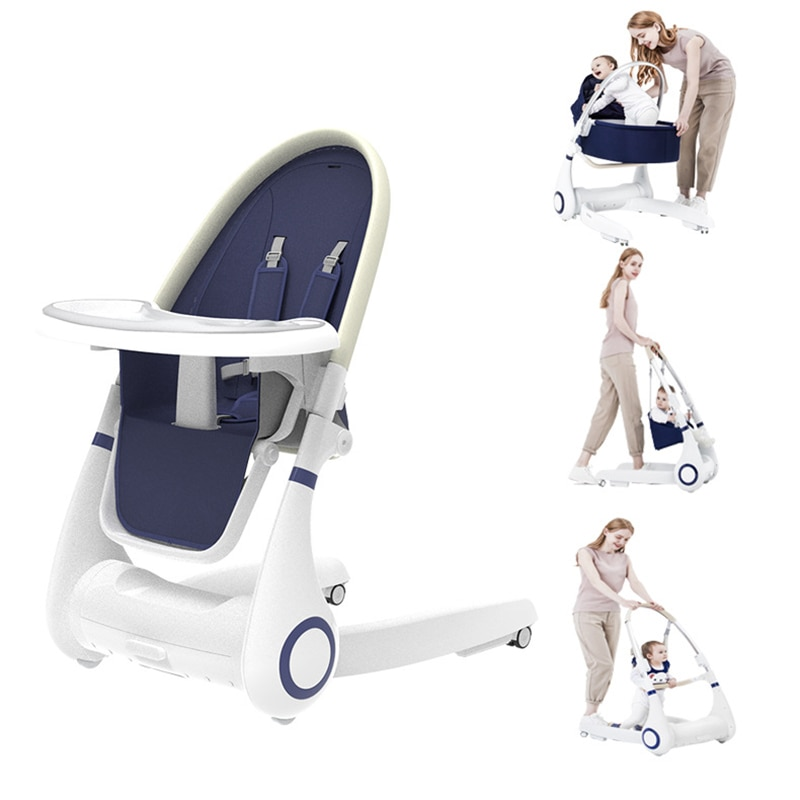 Four-in-one Baby Bed It's Also A Baby Dining Chair Foldable Child Eating Seat Home Baby Cradle Qianqiu It's Also A Baby Walker