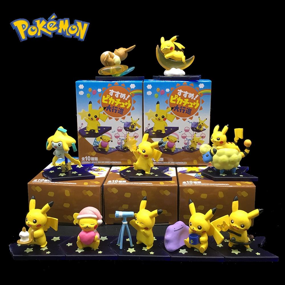 TOMY Pokémon de bolsillo monstruo Espeon Nirvana juguetes figura de acción Pikachu Beach Series regalos de Navidad para niños