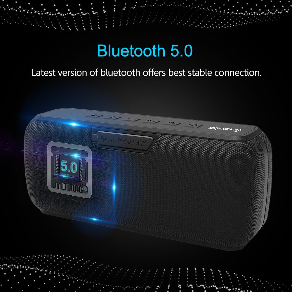XDOBO X7 50W Bluetooth Speaker BT5.0 Portable Speaker IPX5 Waterproof 8-15H Playtime with Voice Assistant Type-C Port Subwoofer enlarge