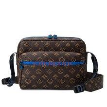 Luxury Designer Men's Messenger Bag Leather Classic Print Men Handbags and Purses Vintage Man Should