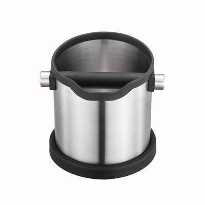 1800 مللي الفولاذ المقاوم للصدأ القهوة طحن مكافحة زلة صندوق طحن قهوة سلة مهملات مع انفصال تدق بار باريستا إسبرسو طحن الحاويات