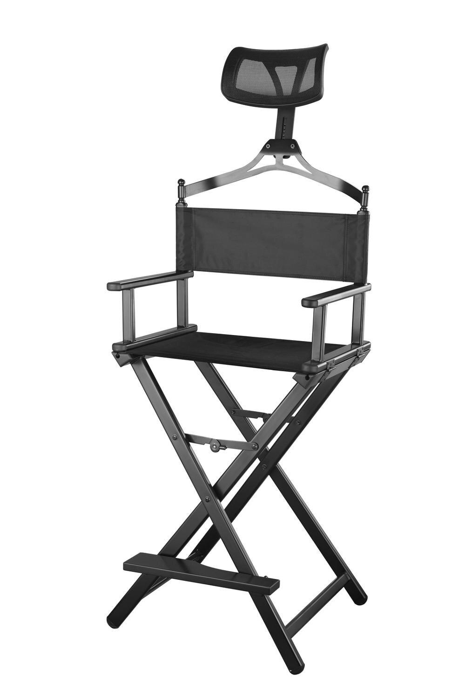 Современный портативный алюминиевый стул руководителя с подголовником-портативный визажист/менеджер складной стул для лучшего отдыха